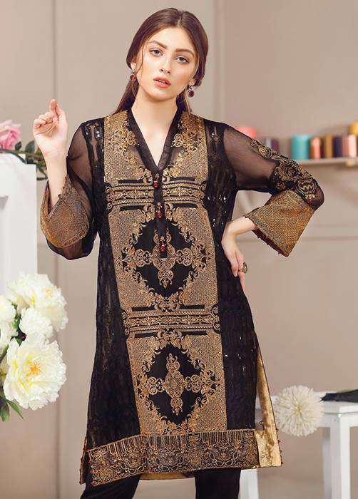 Baroque Embroidered Chiffon Unstitched 3 Piece Suit FU17E2 03