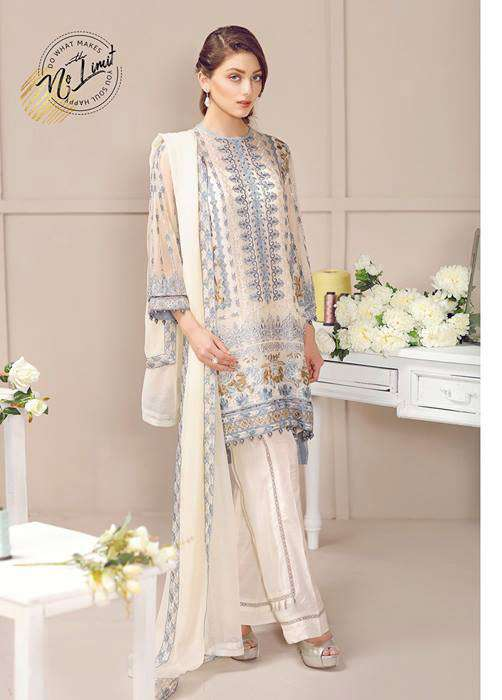 Baroque Embroidered Chiffon Unstitched 3 Piece Suit FU17E2 05