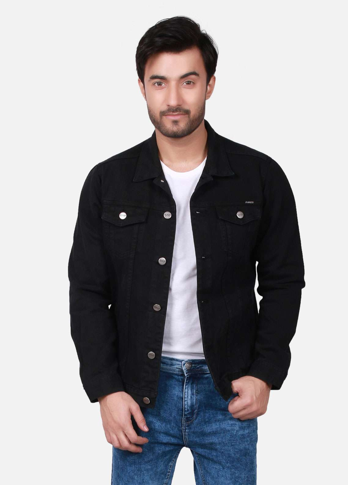 Furor Denim Casual Men Jackets - Black FMTJD18-001