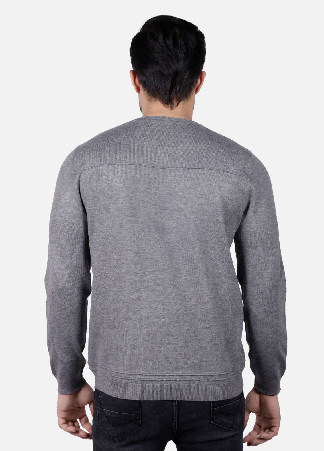 Furor Jersey Casual Sweatshirts for Men - Grey 017223