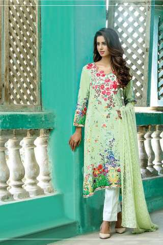ZS Textile Embroidered Lawn Unstitched 3 Piece Suit FV17L 07