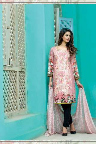 ZS Textile Embroidered Lawn Unstitched 3 Piece Suit FV17L 08