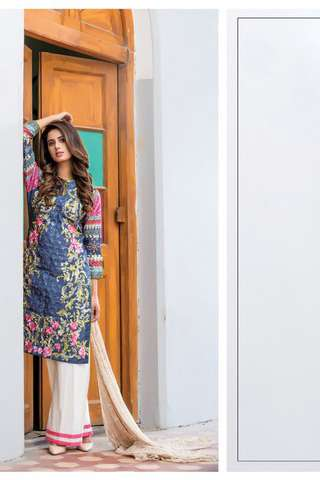 ZS Textile Embroidered Lawn Unstitched 3 Piece Suit FV17L 10
