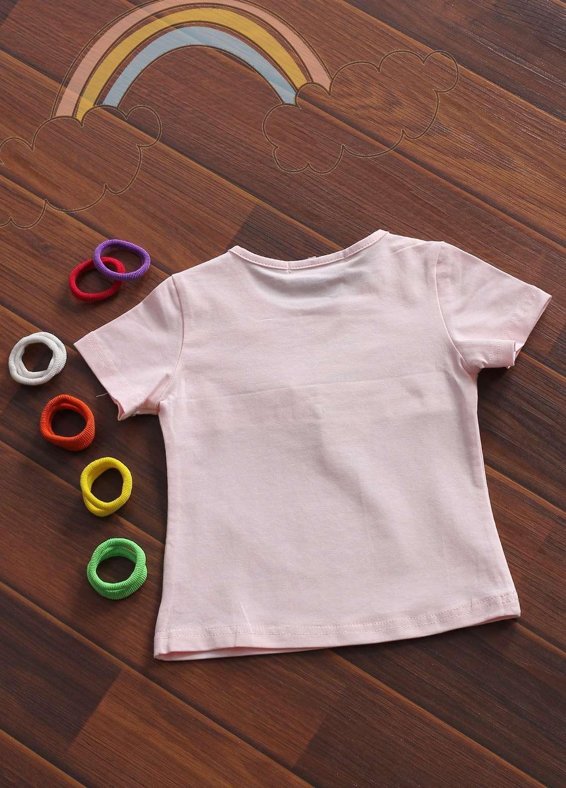 Sanaulla Exclusive Range Cotton Fancy Girls Tees -  801799 Pink