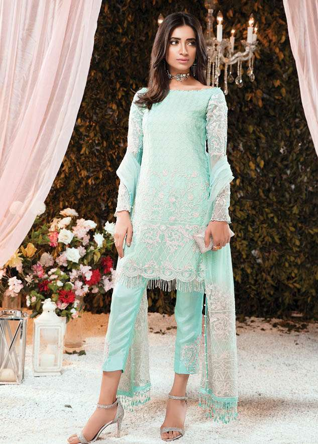 Gulaal Embroidered Chiffon Unstitched 2 Piece Suit GL17C2 04