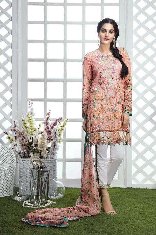 Gulaal Embroidered Lawn Unstitched 3 Piece Suit GL17M 01