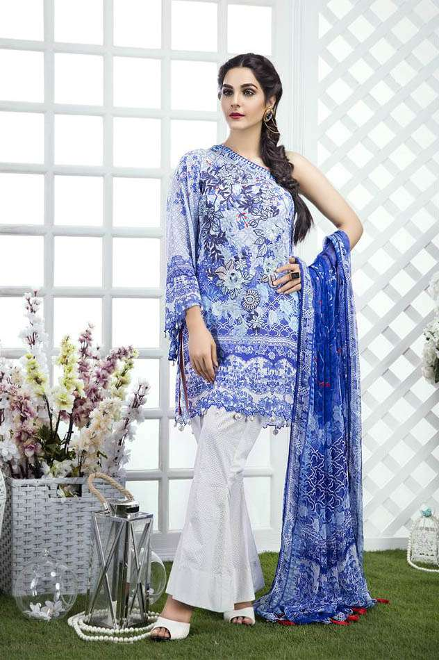 Gulaal Embroidered Lawn Unstitched 3 Piece Suit GL17M 02