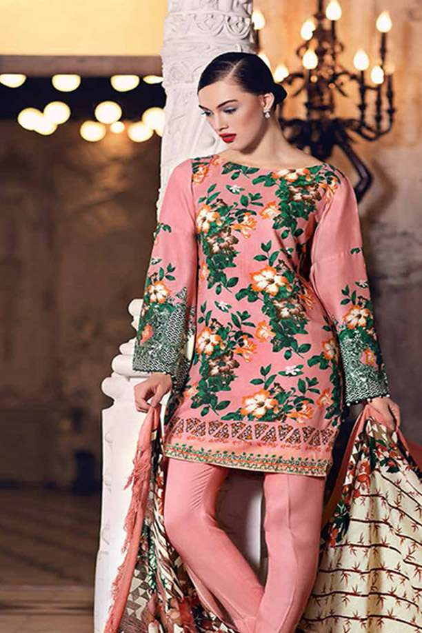 Gul Ahmed Printed Viscose Unstitched 3 Piece Suit GL17W2 SW37