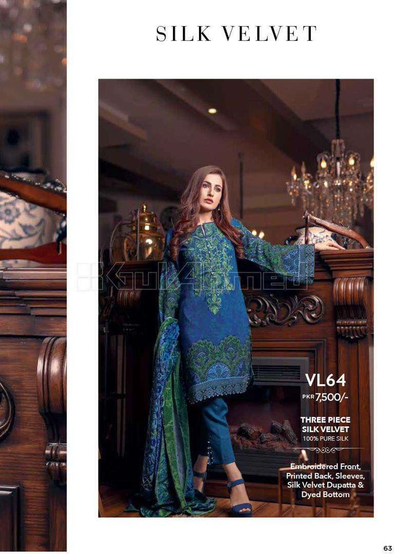 2b5ae4868b Buy Gul Ahmed Winter Collection 2017 | Linen, Corduroy, Viscose ...