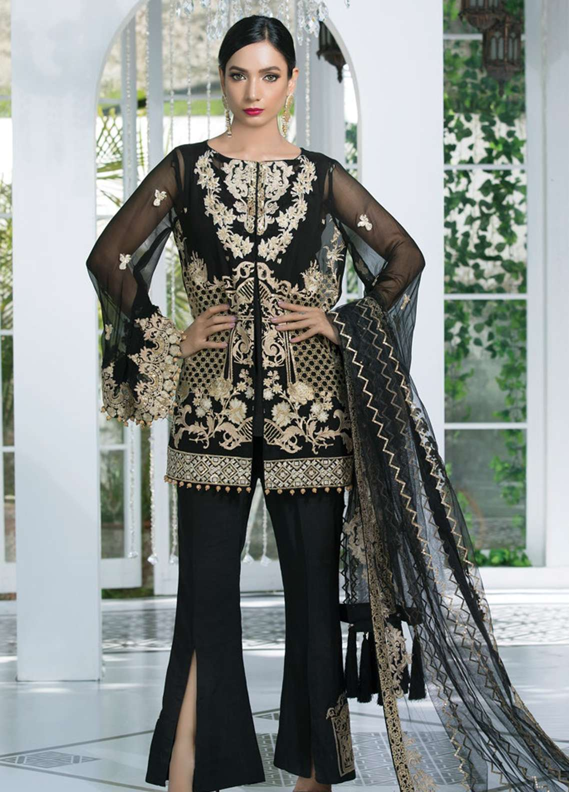 Gulaal Embroidered Chiffon Unstitched 3 Piece Suit GL18-E2 04 - Eid ul Azha Collection