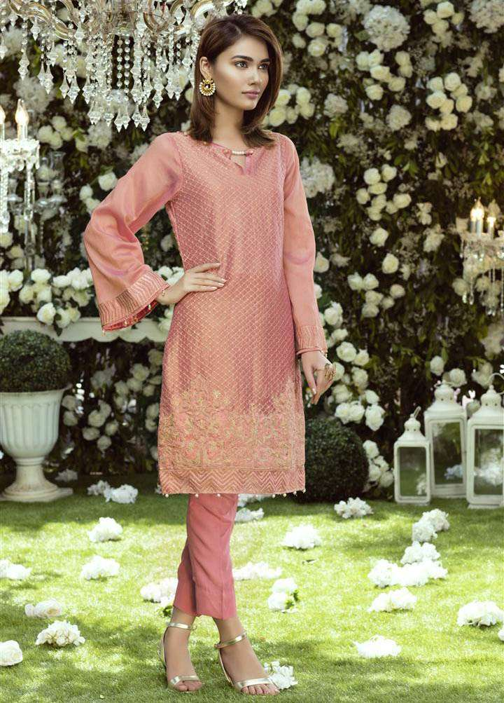 Anahi by Gulaal Embroidered Cotton Net Stitched Kurtis GLP17K 1A