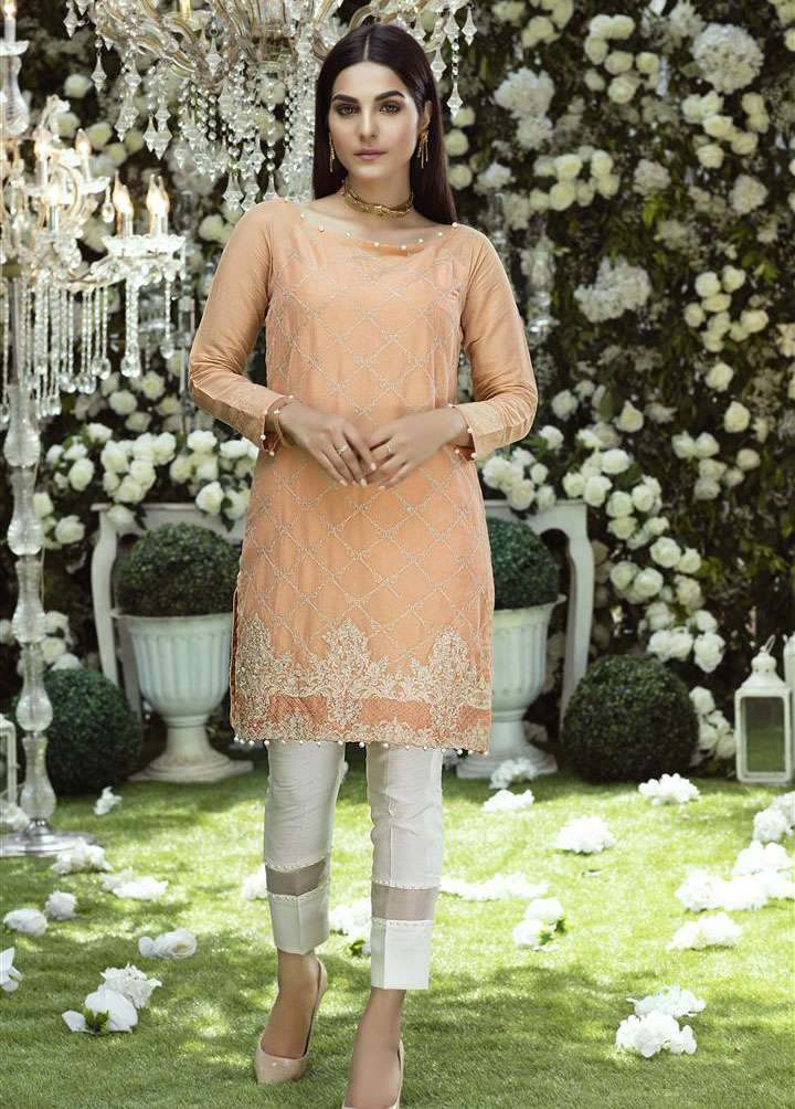 Anahi by Gulaal Embroidered Cotton Net Stitched Kurtis GLP17K 2A