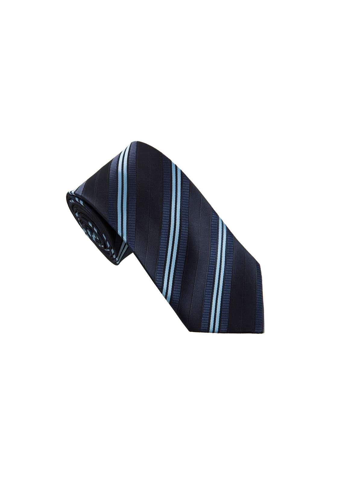 The Gentlemen's Club Blue Striped Silk Men's Ties