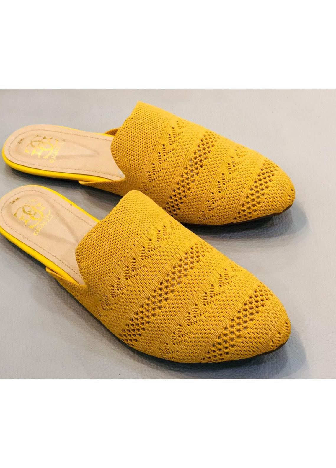 Grace Up Shoes Casual Style  Flat Shoes 682 YELLOW