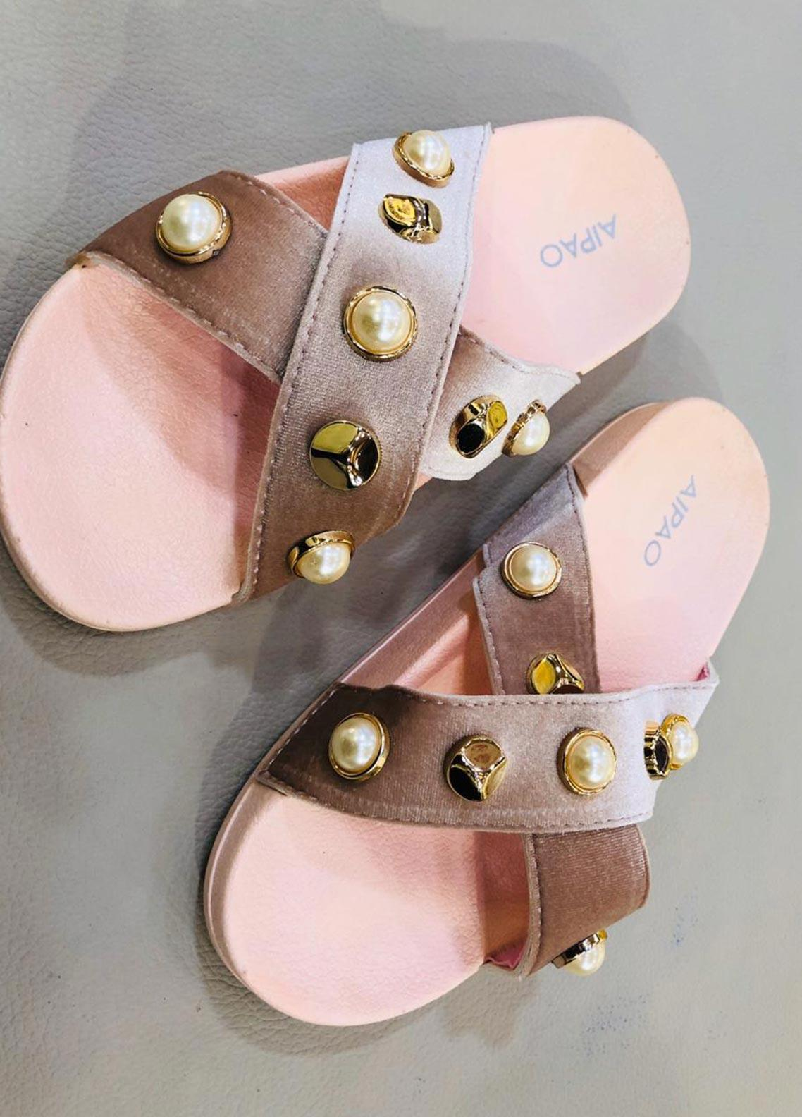 Grace Up Shoes Casual Style  Flat Shoes A82 Peach
