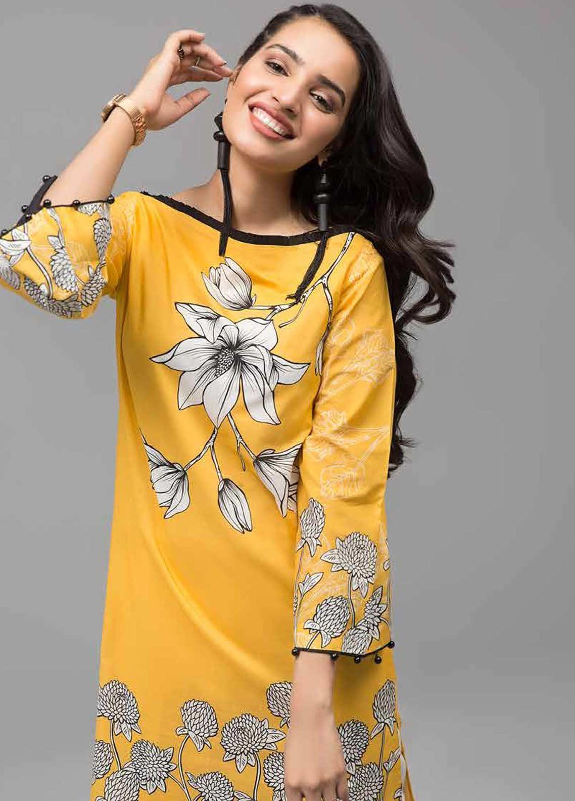 Gul Ahmed Printed Lawn Unstitched Kurties GAB19-L3 SL-683 - Mid Summer Collection