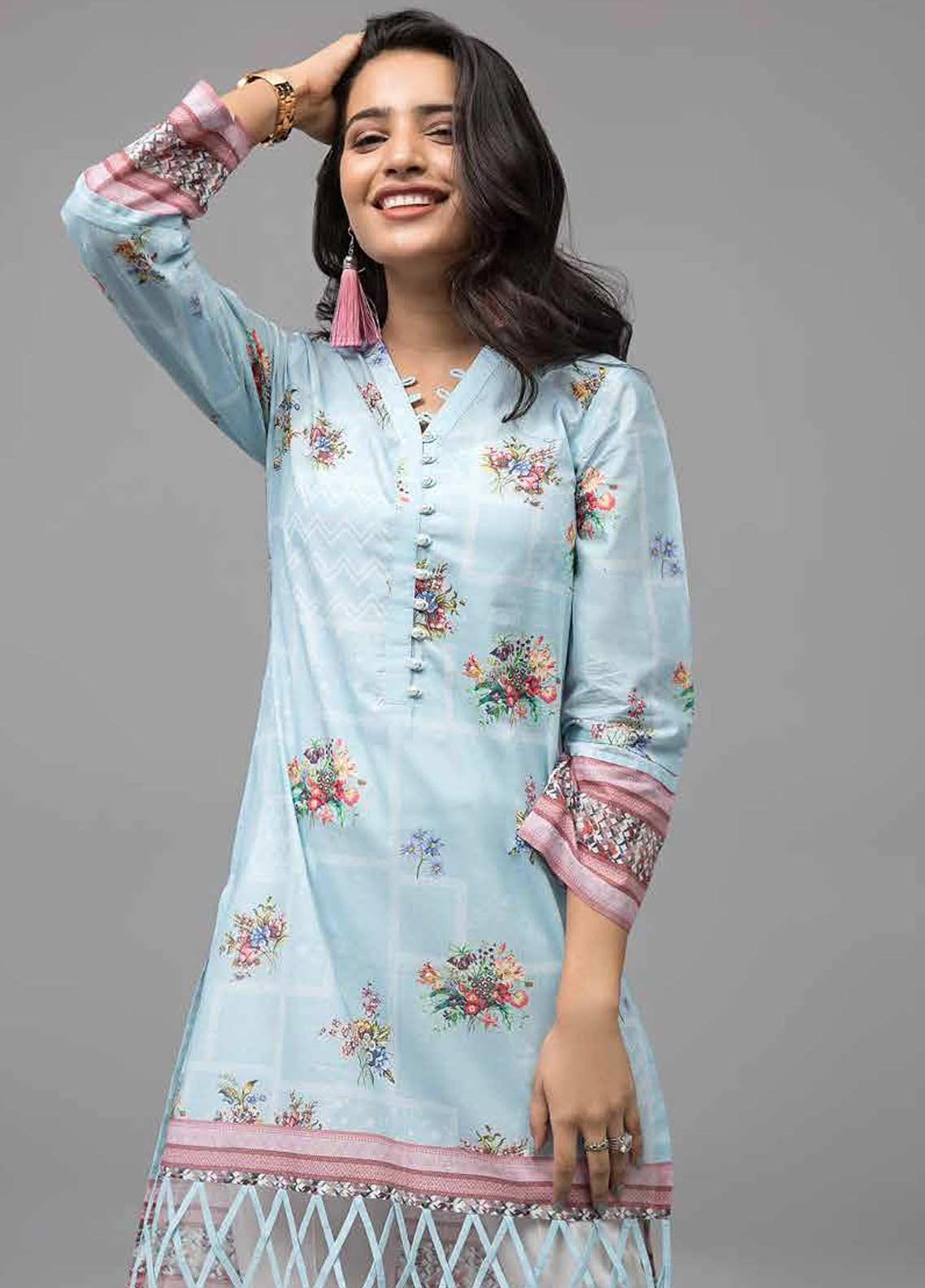 Gul Ahmed Printed Lawn Unstitched Kurties GAB19-L3 SL-707 - Mid Summer Collection
