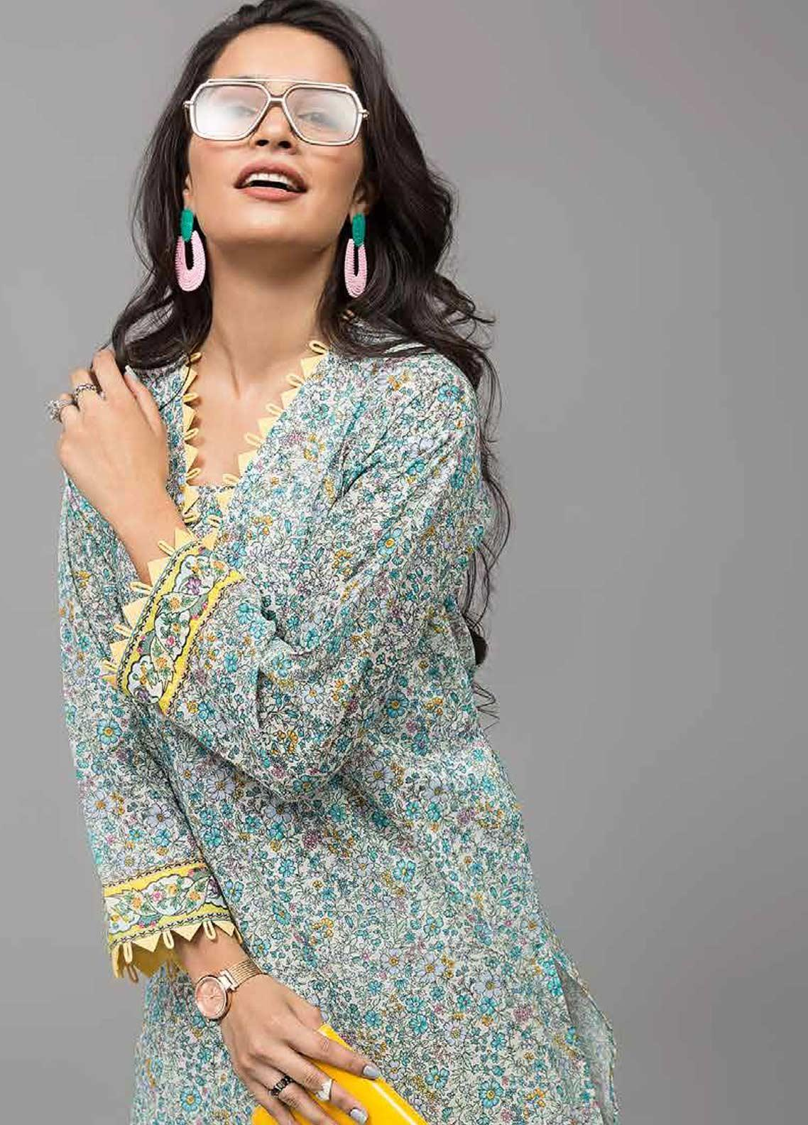 Gul Ahmed Printed Lawn Unstitched Kurties GAB19-L3 SL-742 - Mid Summer Collection