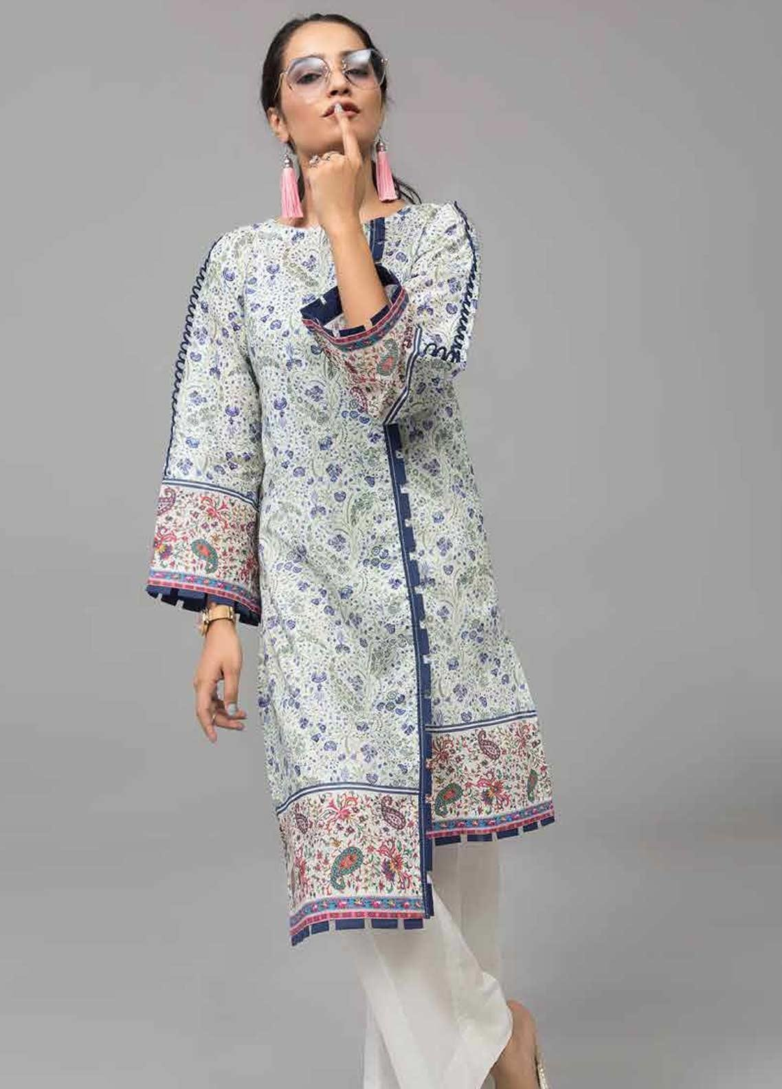 Gul Ahmed Printed Lawn Unstitched Kurties GAB19-L3 SL-743 - Mid Summer Collection
