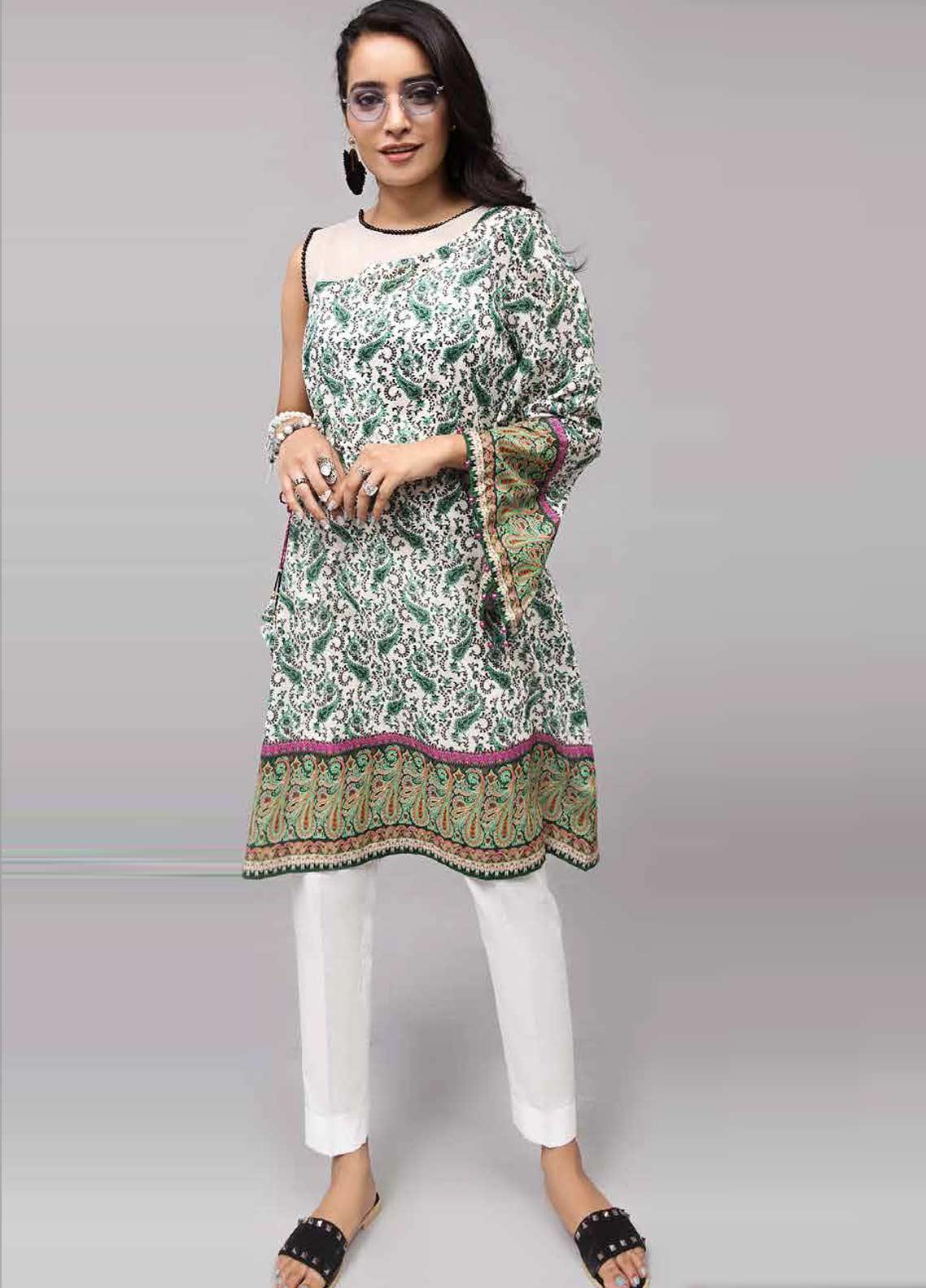 Gul Ahmed Printed Lawn Unstitched Kurties GAB19-L3 SL-744 - Mid Summer Collection