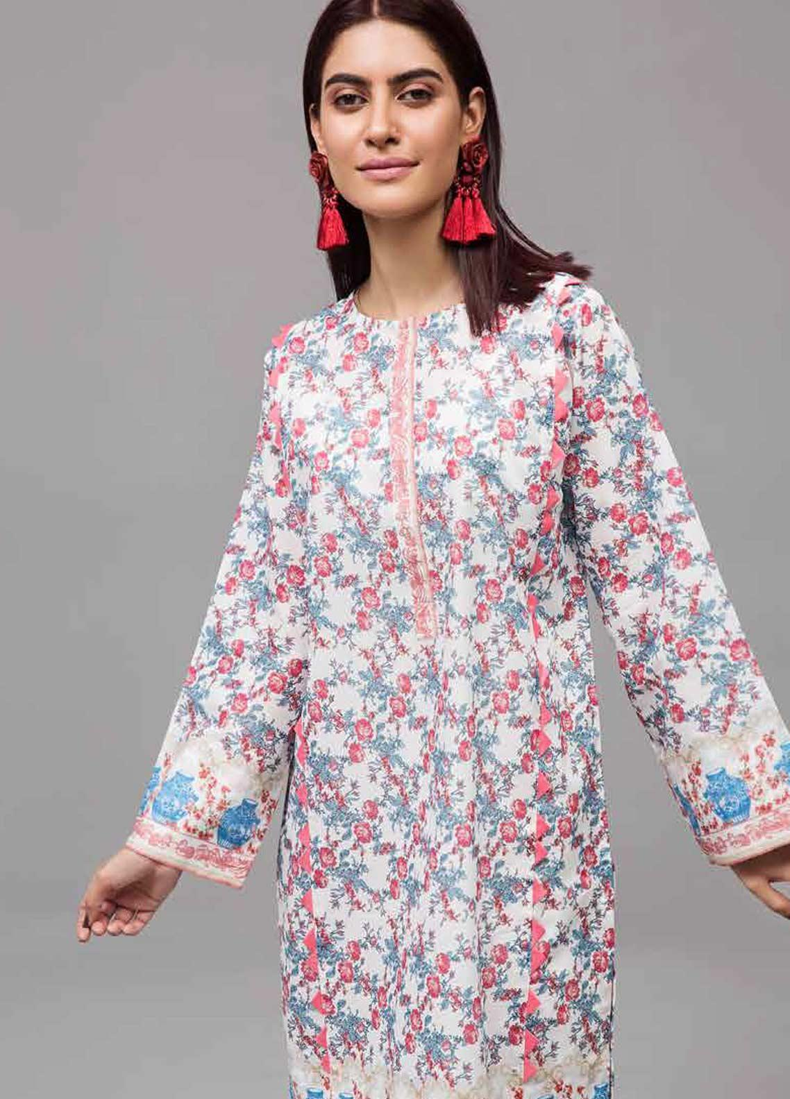 Gul Ahmed Printed Lawn Unstitched Kurties GAB19-L3 SL-747 - Mid Summer Collection