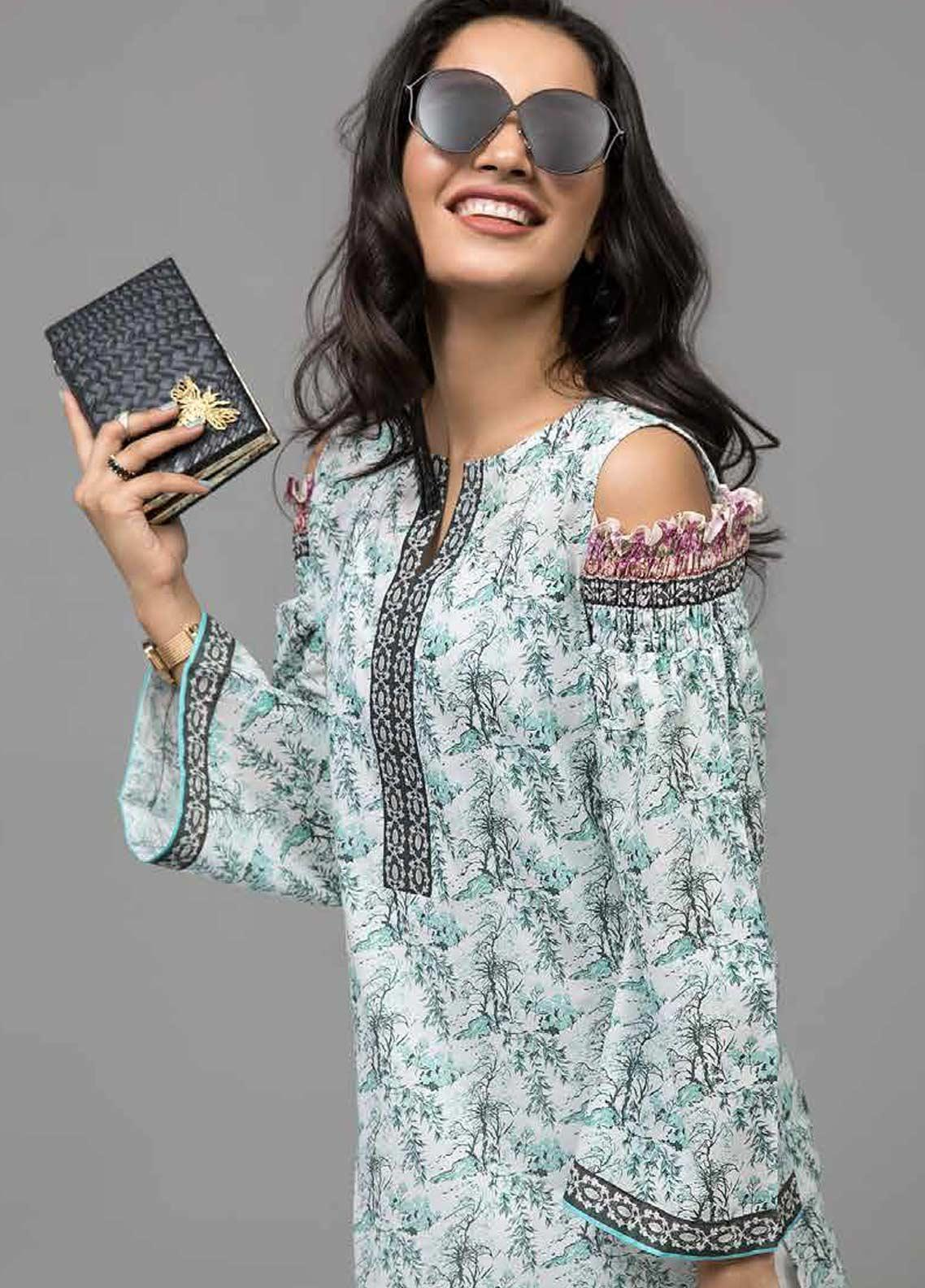 Gul Ahmed Printed Lawn Unstitched Kurties GAB19-L3 SL-749 - Mid Summer Collection