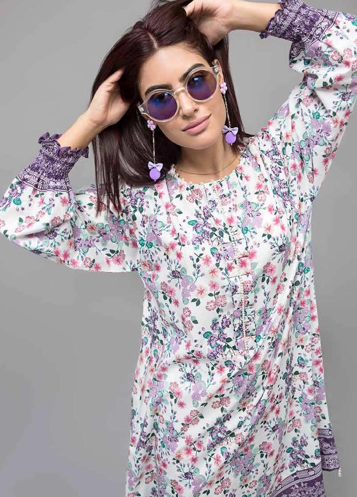 Gul Ahmed Printed Lawn Unstitched Kurties GAB19-L3 SL-750 - Mid Summer Collection
