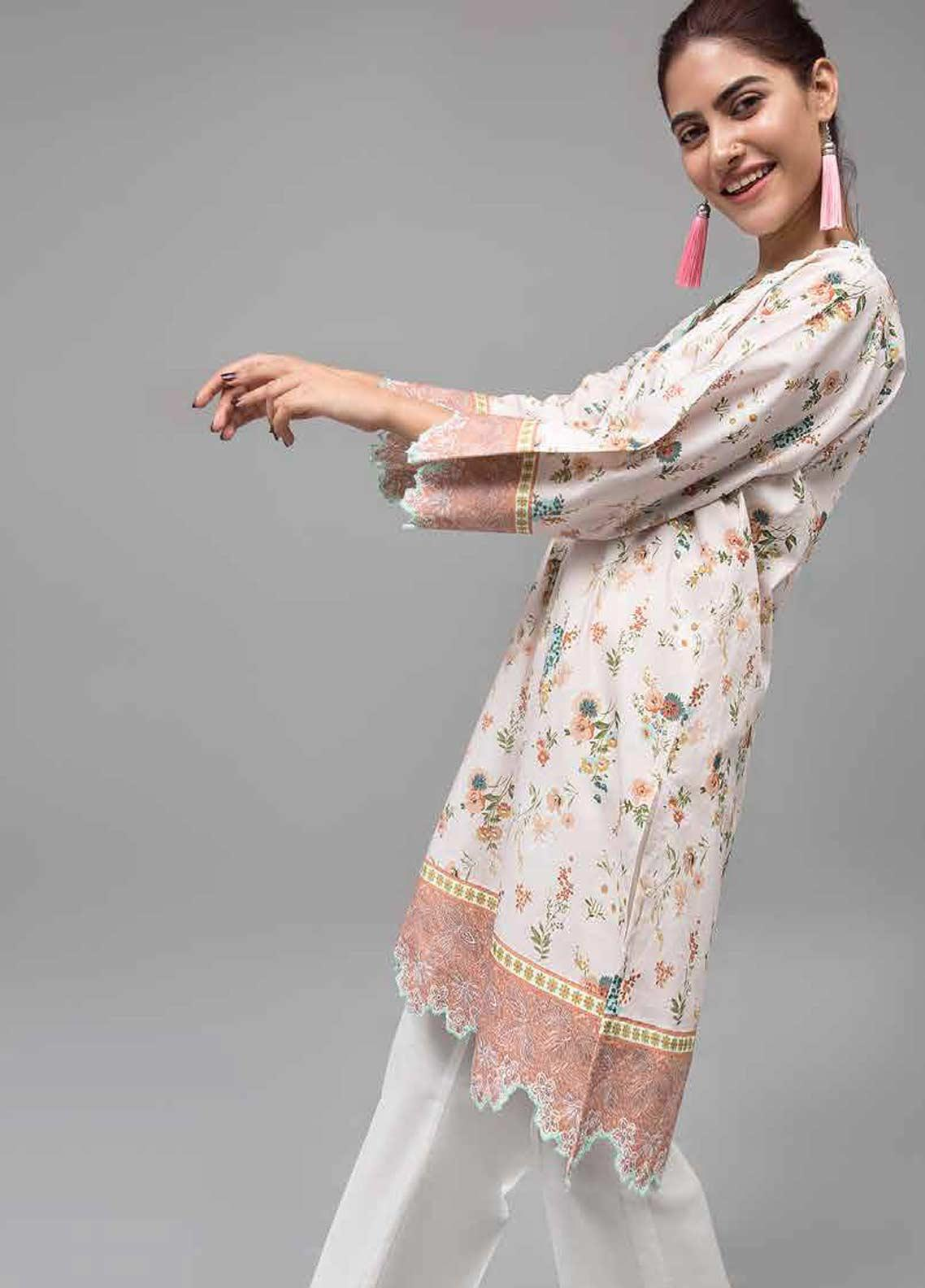 Gul Ahmed Printed Lawn Unstitched Kurties GAB19-L3 SL-751 - Mid Summer Collection