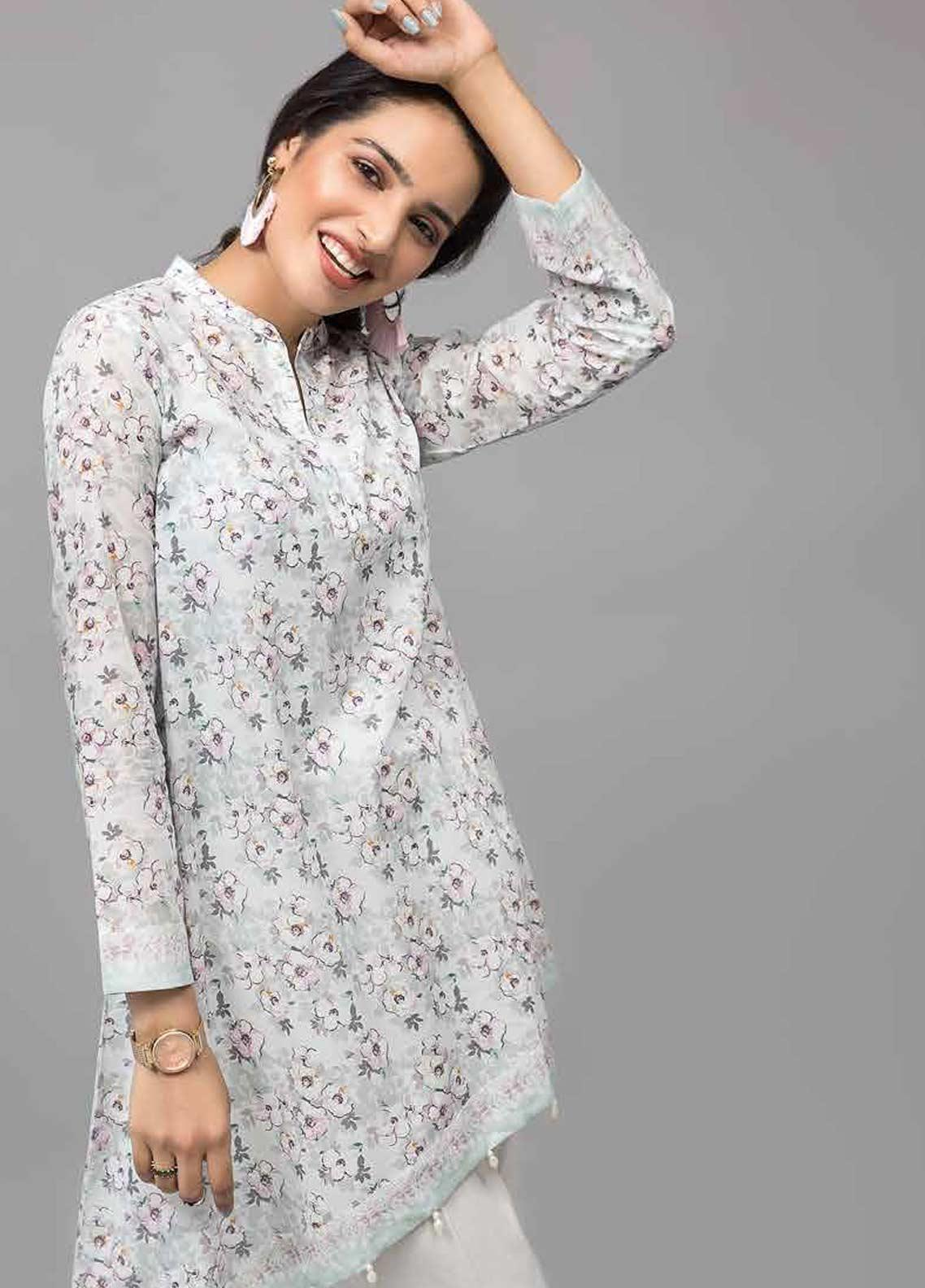 Gul Ahmed Printed Lawn Unstitched Kurties GAB19-L3 SL-752 - Mid Summer Collection