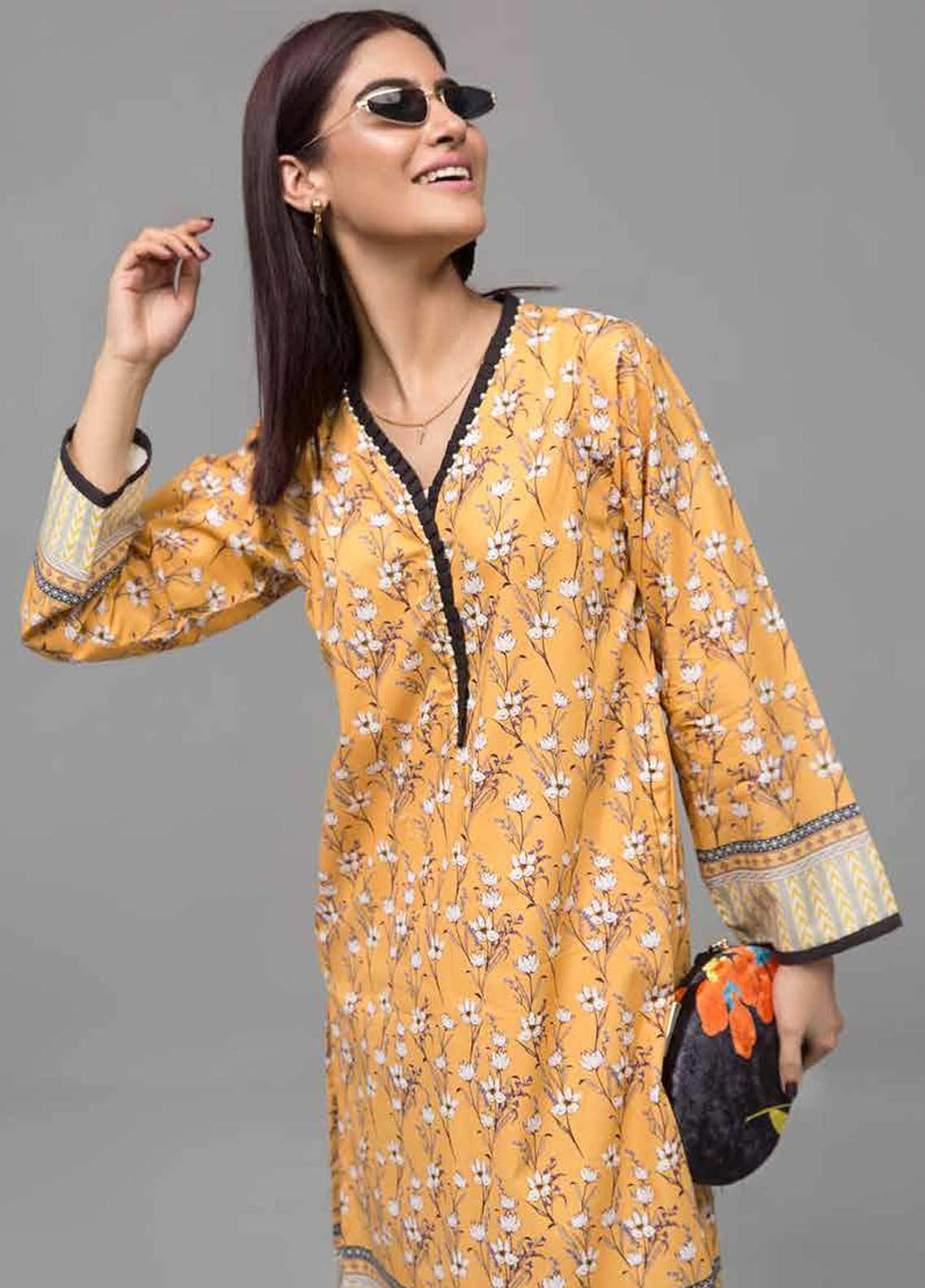 Gul Ahmed Printed Lawn Unstitched Kurties GAB19-L3 SL-759 - Mid Summer Collection