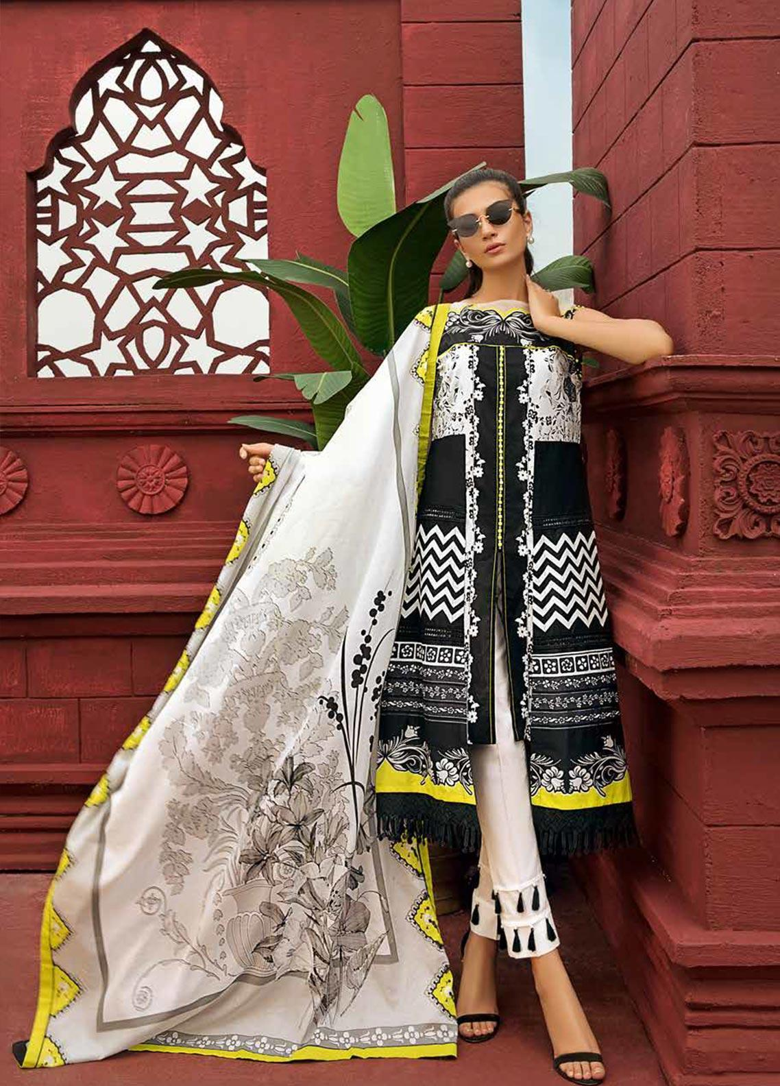 Gul Ahmed Printed Cambric Unstitched 2 Piece Suit GA19CF TCN-47 B - Mid Summer Collection