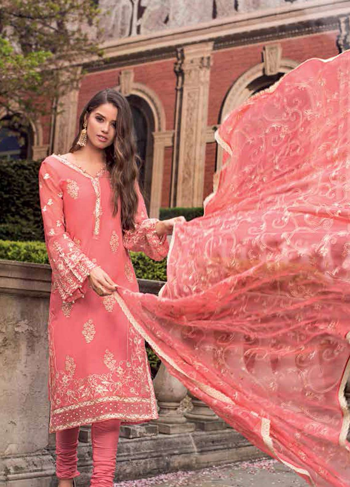 04f8a29319 Gul Ahmed Embroidered Chiffon Unstitched 3 Piece Suit GA19E FE-173 - Eid  Collection