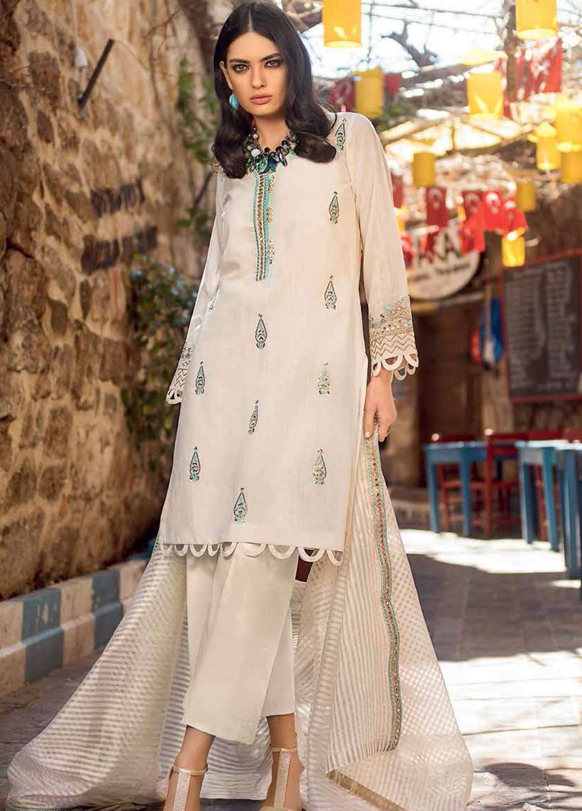 4f7e06a65f Gul Ahmed Embroidered Jacquard Unstitched 3 Piece Suit GA19E FE-231 - Eid  Collection
