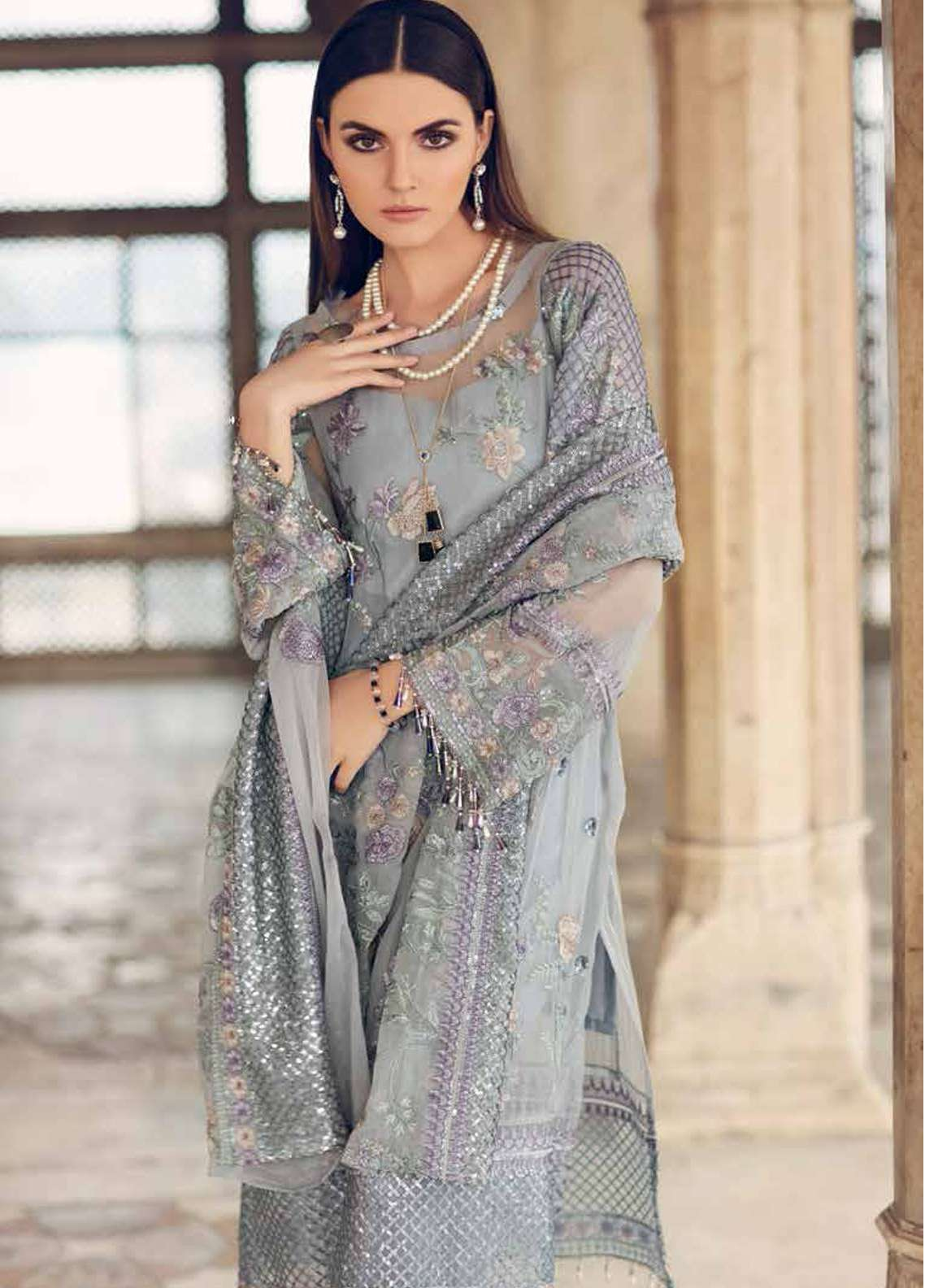 378ef63c2c Gul Ahmed Embroidered Lawn Unstitched 3 Piece Suit GA19E FE-248 - Eid  Collection