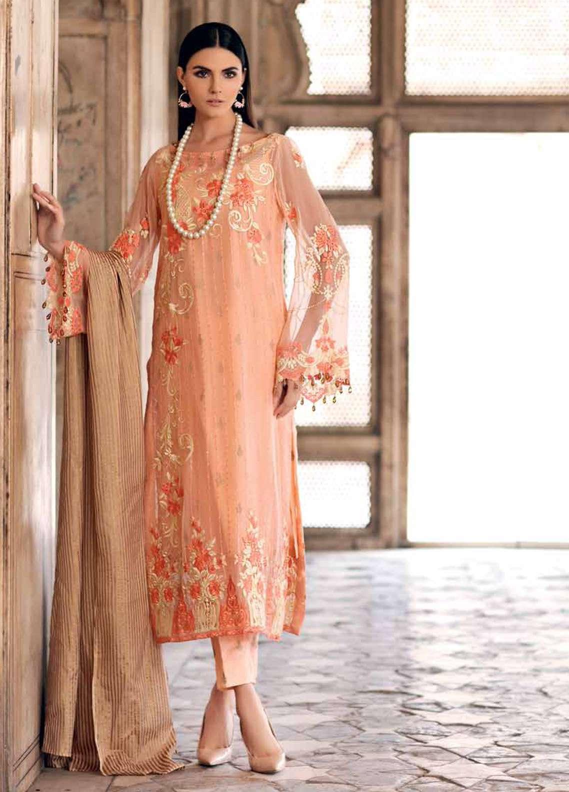 b4025284d3 Gul Ahmed Embroidered Lawn Unstitched 3 Piece Suit GA19E FE-252 - Eid  Collection