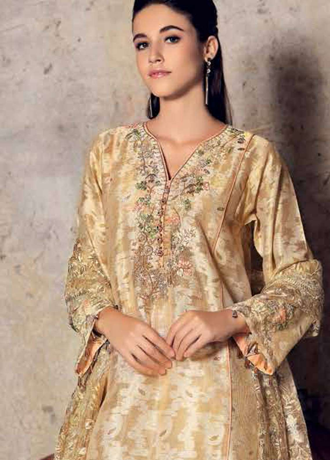 0b2b9a8c1b Gul Ahmed Embroidered Lawn Unstitched 3 Piece Suit GA19E FE-254 - Eid  Collection