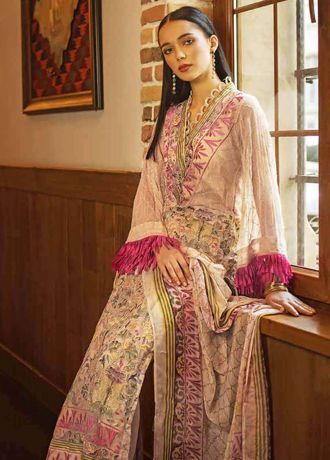 dd7e75f025 Gul Ahmed Embroidered Cotton Unstitched 3 Piece Suit GA19FB PS-07 Persian  Tapestry - Formal