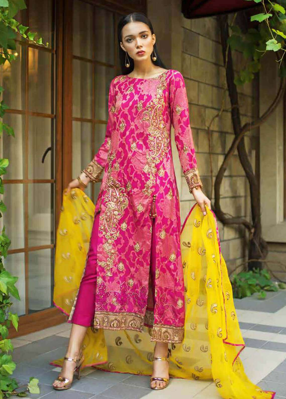 38920cdf07 Gul Ahmed Embroidered Cotton Unstitched 3 Piece Suit GA19FB PS-12 Bloom  Blossoms - Formal