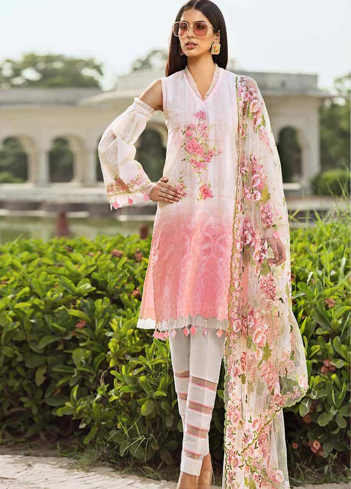 Gul Ahmed Embroidered Jacquard Unstitched 3 Piece Suit GAG19F EA-60 - Festive Collection