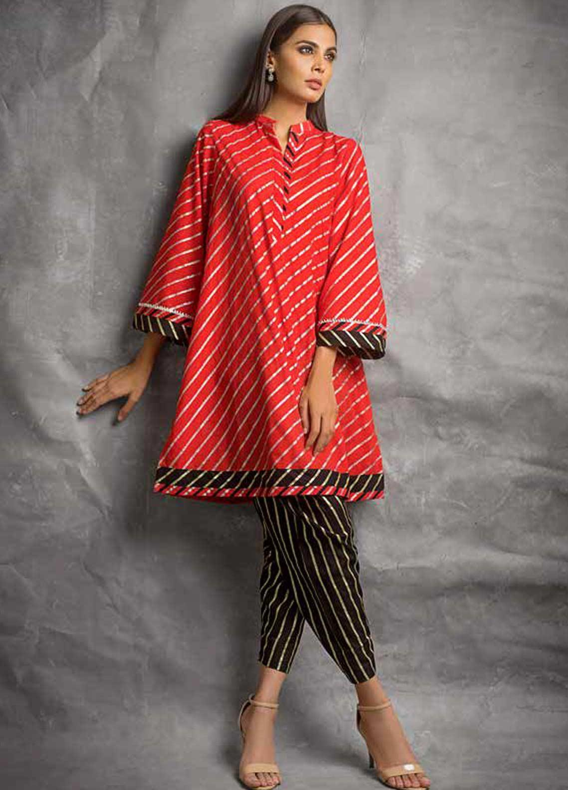 a5d6a59490 Gul Ahmed Printed Lawn Unstitched 2 Piece Suit GAG19F EA-89 - Festive  Collection