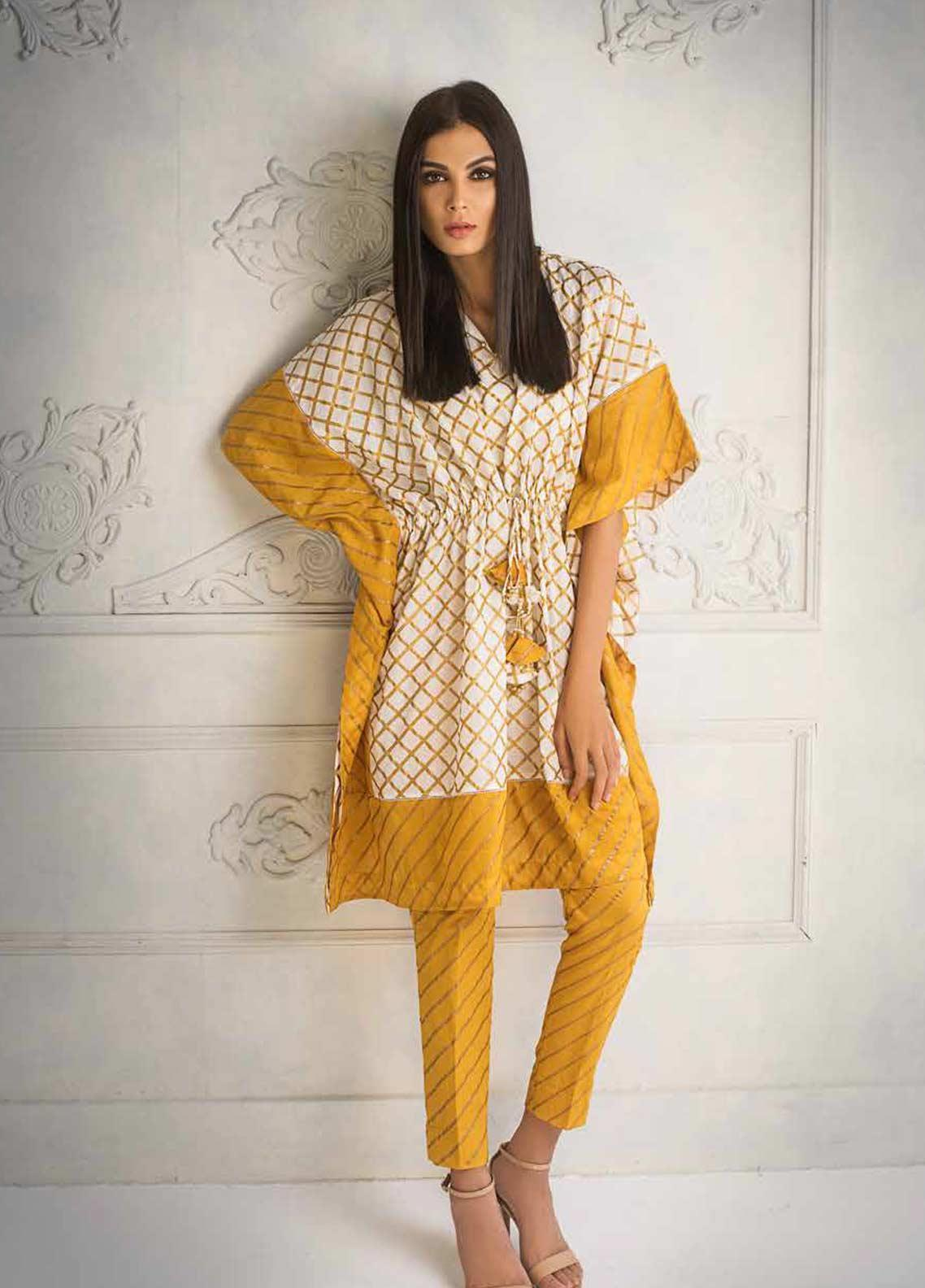 Gul Ahmed Printed Lawn Unstitched 2 Piece Suit GAG19F EA-91 - Festive Collection