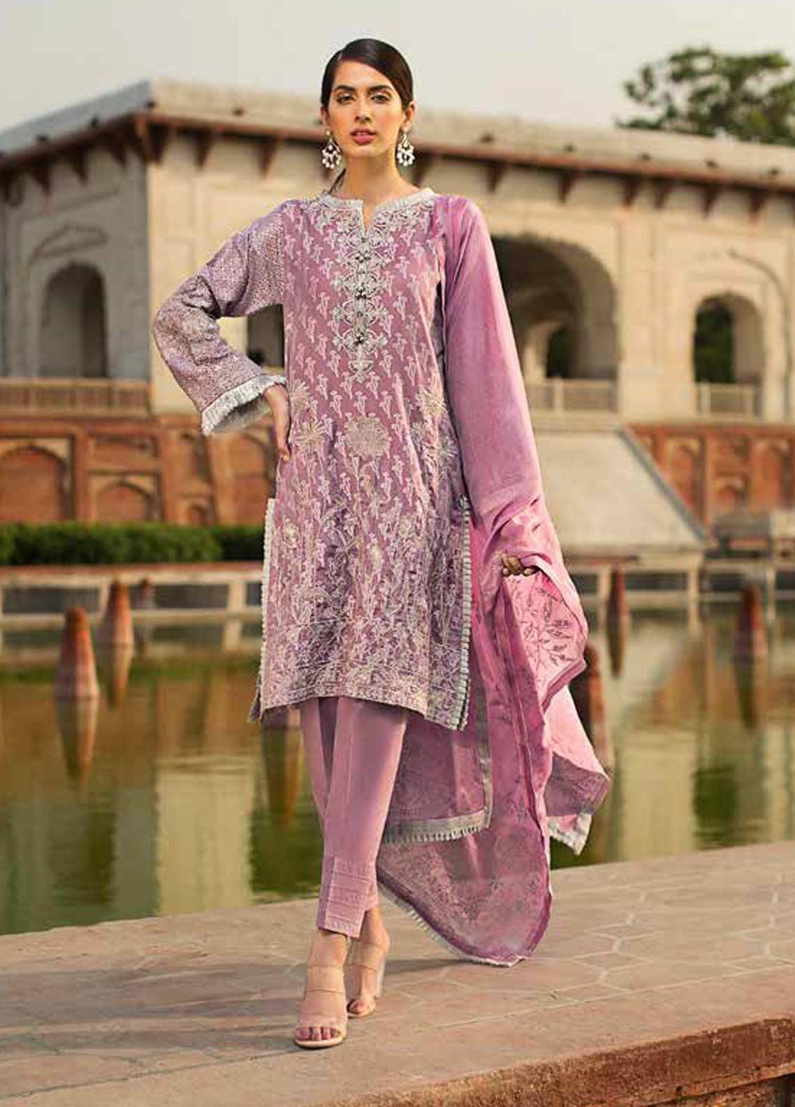 6770b31e90 Gul Ahmed Embroidered Jacquard Unstitched 3 Piece Suit GAG19F EA-93 -  Festive Collection