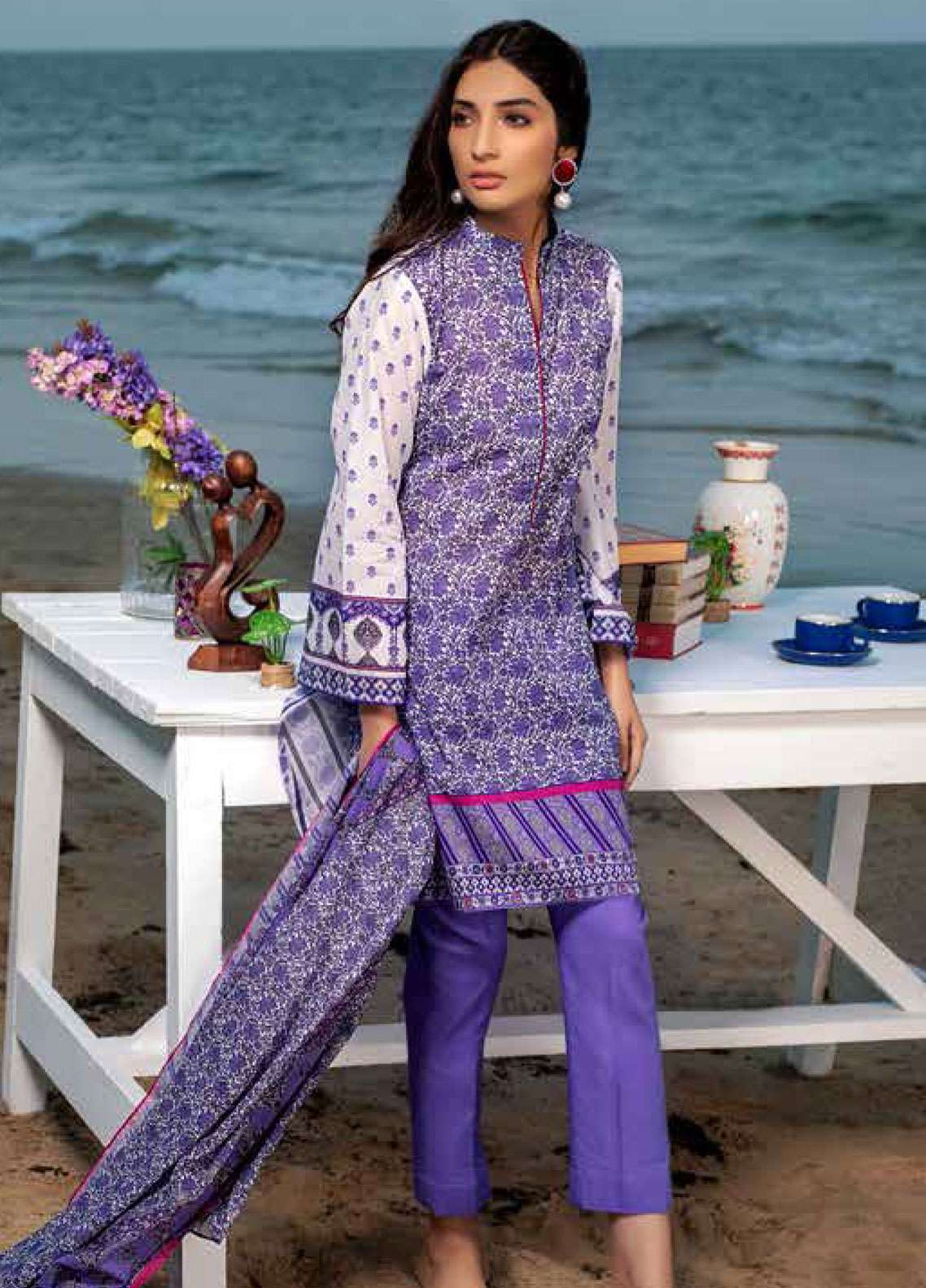 cb76368507 Gul Ahmed Printed Lawn Unstitched 3 Piece Suit GAM19L CL-518 A - Spring /  Summer Collection