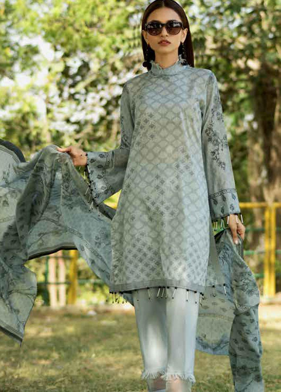 Gul Ahmed Printed Lawn Unstitched 3 Piece Suit GAM19-L2 CL-533B - Mid Summer Collection