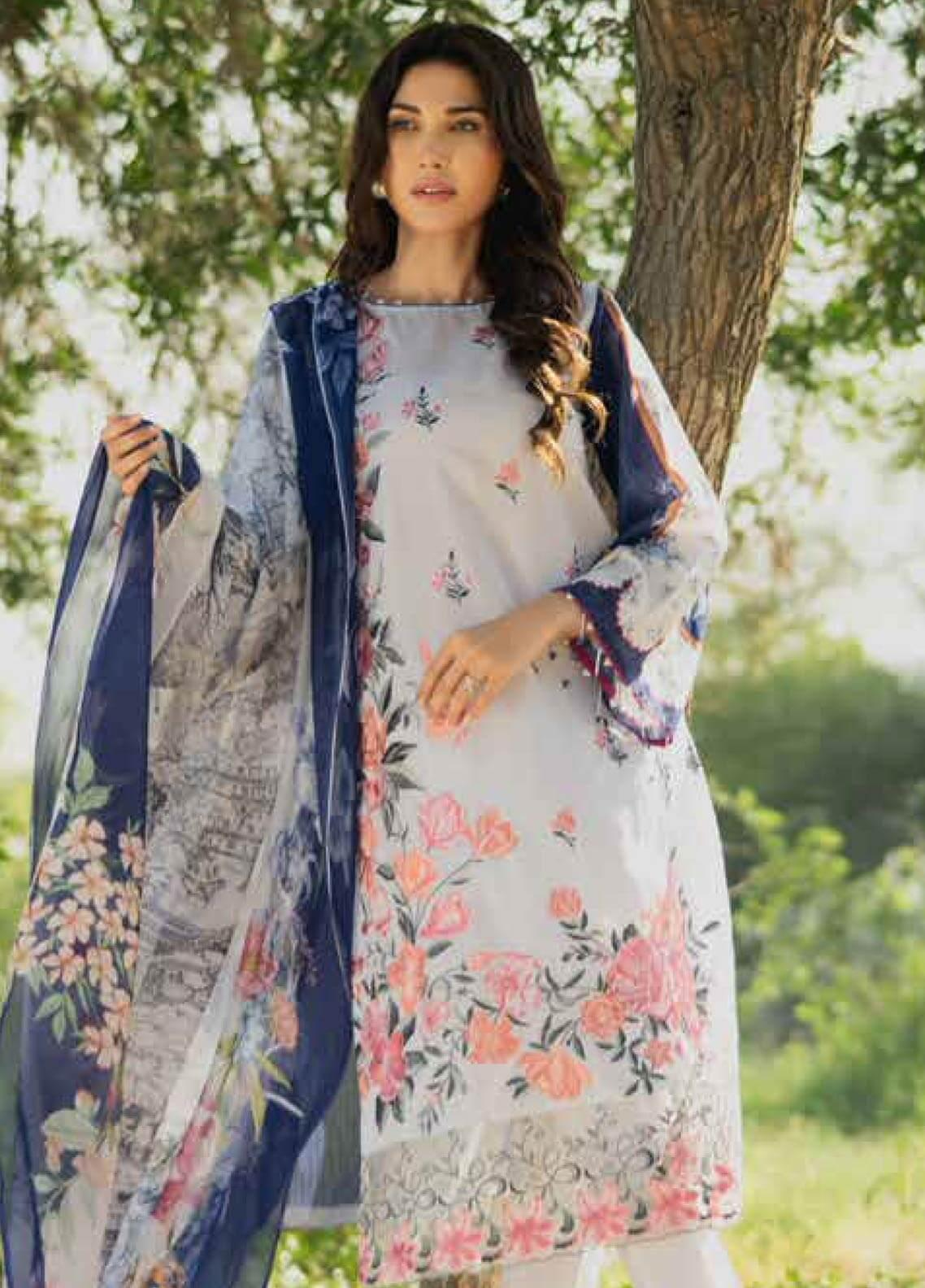 Gul Ahmed Embroidered Lawn Unstitched 3 Piece Suit GAM19-L2 SSM-21 - Mid Summer Collection