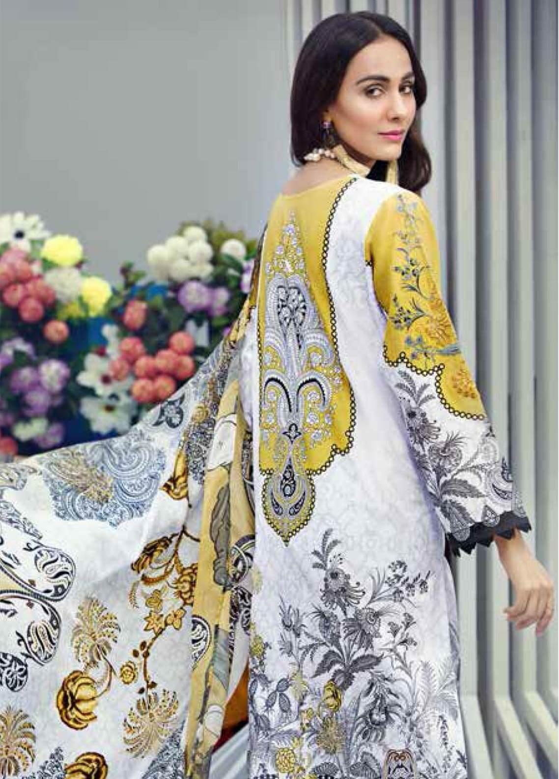 5ef1892f7c Gul Ahmed Embroidered Lawn Unstitched 3 Piece Suit GAM19-L2 SSM-23 - Mid Summer  Collection