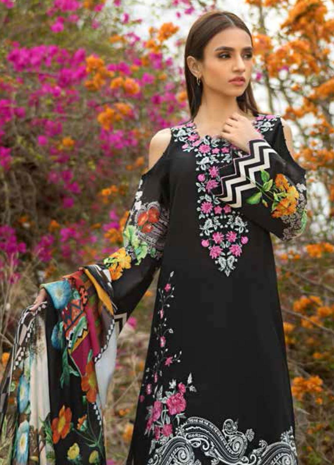 Gul Ahmed Embroidered Lawn Unstitched 3 Piece Suit GAM19-L2 SSM-24 - Mid Summer Collection