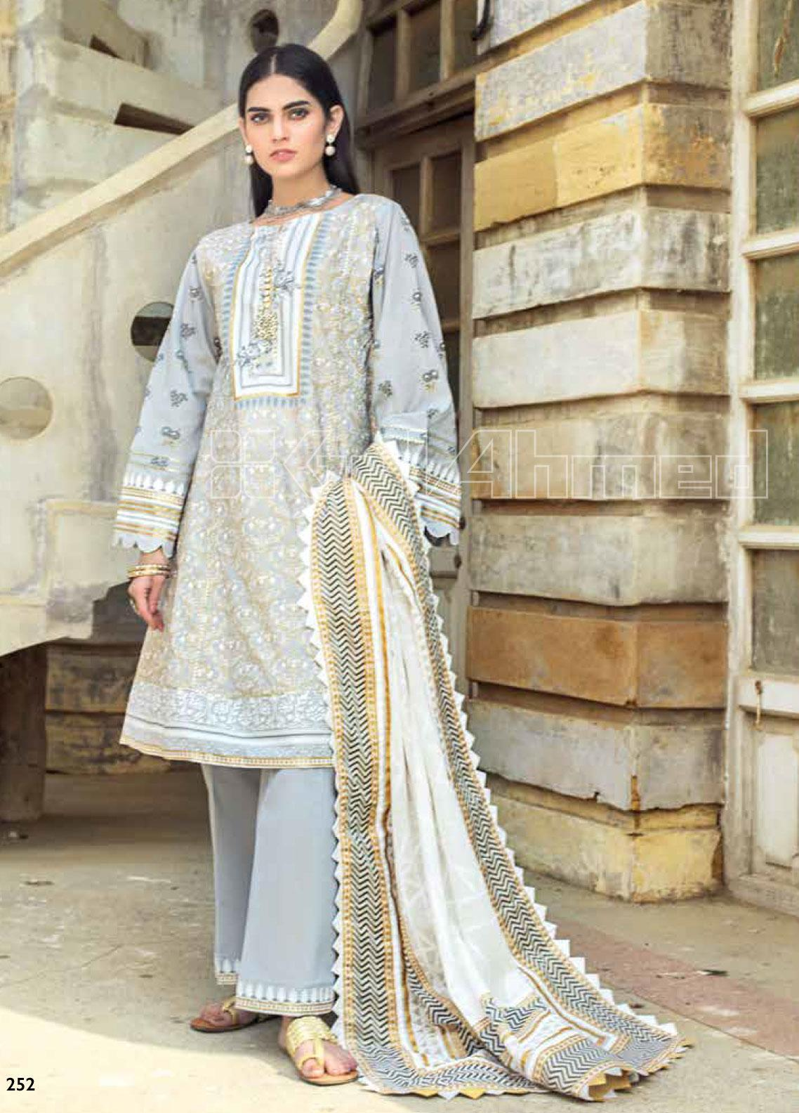 Gul Ahmed Printed Lawn Unstitched 3 Piece Suit GA20SBL ARZ 06 - Summer Collection