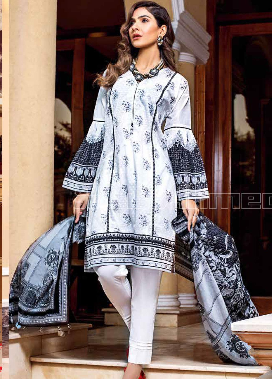 Gul Ahmed Printed Lawn Unstitched 3 Piece Suit GA20SBL B 67 - Summer Collection