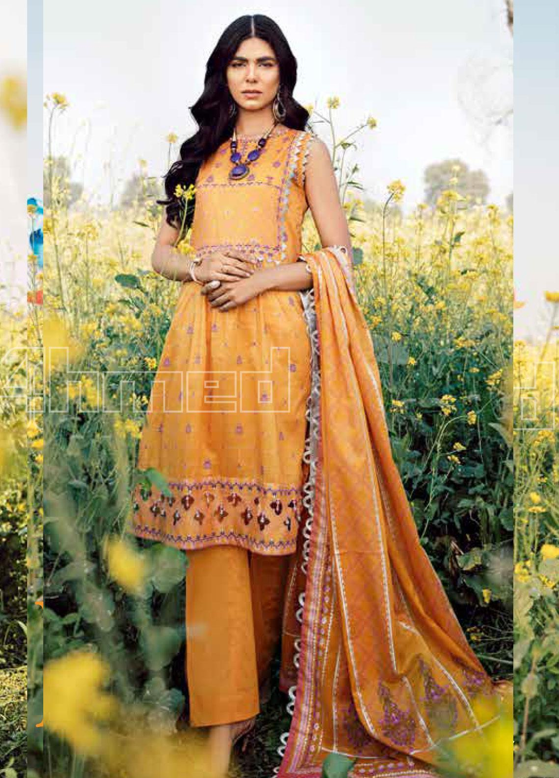 Gul Ahmed Printed Lawn Unstitched 3 Piece Suit GA20SBL CL 806 A - Summer Collection
